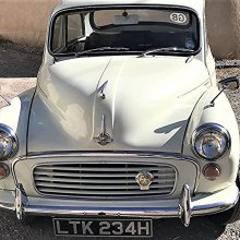 Right-hand-drive 1969 Morris Minor, a stalwart of British motoring