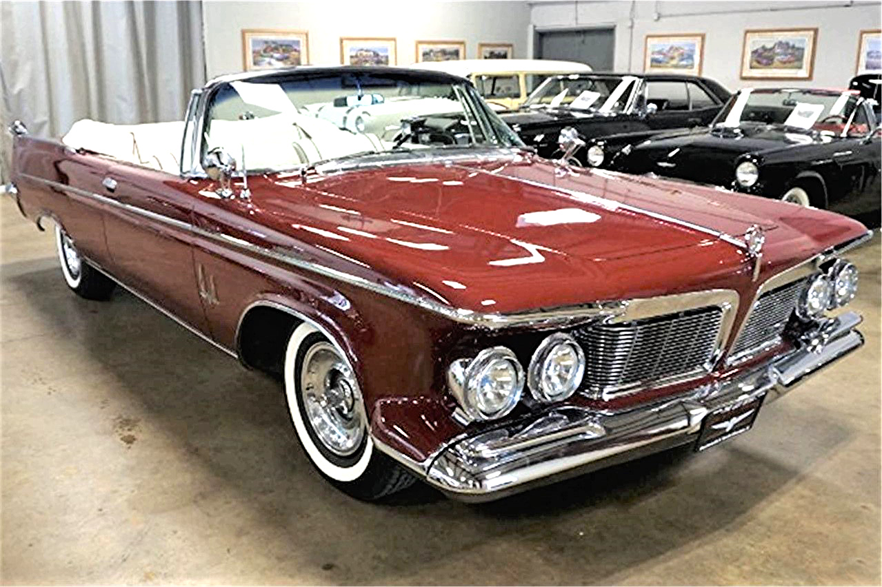 Uniquely styled 1962 Chrysler Imperial convertible in fully restored condition
