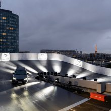 Rooftop experience: 75 mph atop a Paris building