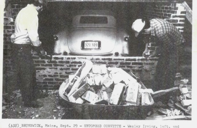 Cemented in history: Entombed 1954 Corvette joins museum's collection