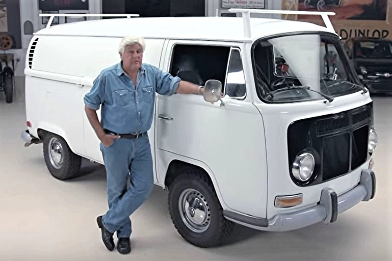Peter Brock's V8-powered VW bus visits Jay Leno's Garage