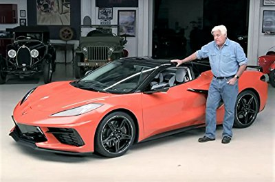 2020 Corvette Stingray convertible arrives at Jay's Leno's garage