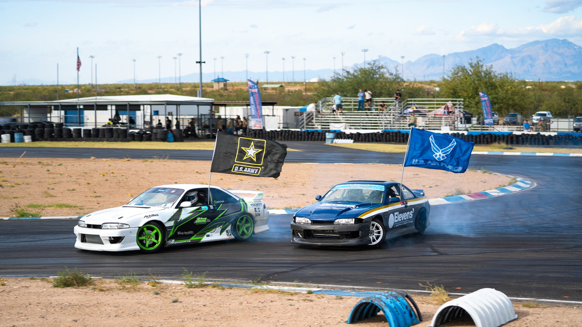 Drift drivers give veterans a healthy dose of adrenaline with ride alongs on track | Rebecca Nguyen photos