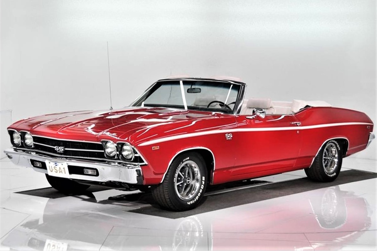 Shiny and quick: 1969 Chevrolet Chevelle SS 396 convertible fresh from restoration